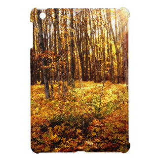 Forest Sunset in the fall Maple Bush iPad Mini Covers