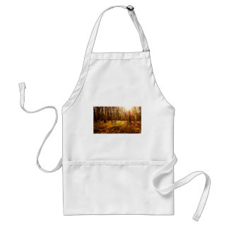 Forest Sunset in the fall Maple Bush Standard Apron