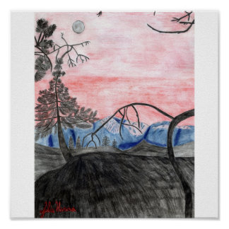 Forest Sunset Print by Julia Hanna