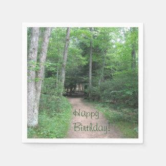 Forest Trail Birthday Disposable Serviette