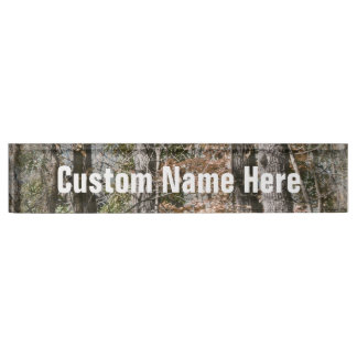 Forest Tree Camo Camouflage Nature Hunting/Fishing Name Plate