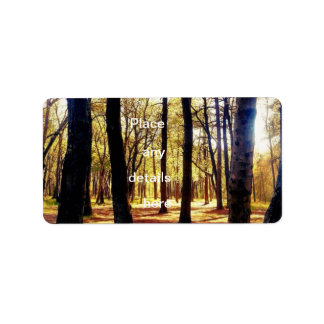 Forest trees address label