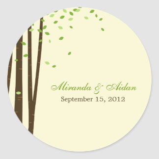 Forest Trees Favour Sticker or Envelope Seal-
