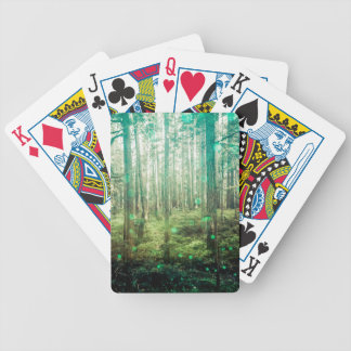 Forest Trees - In the Woods Pattern Bicycle Playing Cards