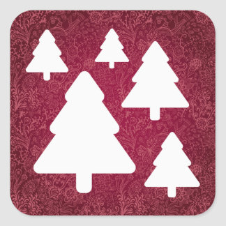 Forest Trees Minimal Square Sticker