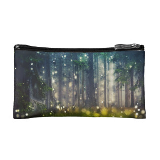 Forest, trees on clearing, dawn makeup bag