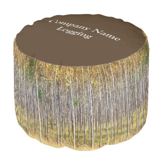 forest trees photo business round pouffe