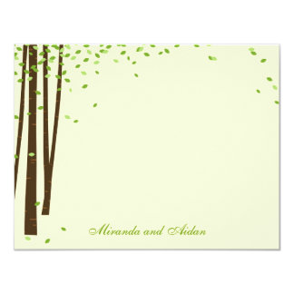 Forest Trees Thank You Cards cards - Green - 11 Cm X 14 Cm Invitation Card