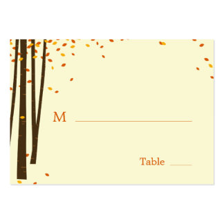 Forest Trees Wedding Flat Place Cards Pack Of Chubby Business Cards