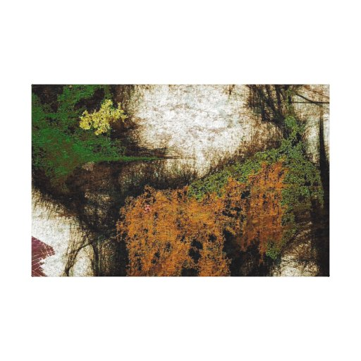 Forest Walk Abstract Expressionism Canvas Print
