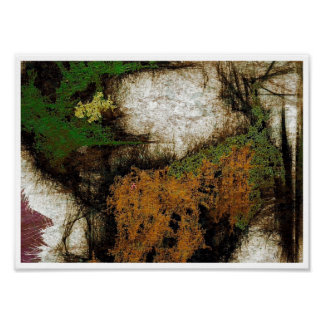 Forest Walk Abstract Expressionism Print