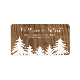 Forest Wedding Labels