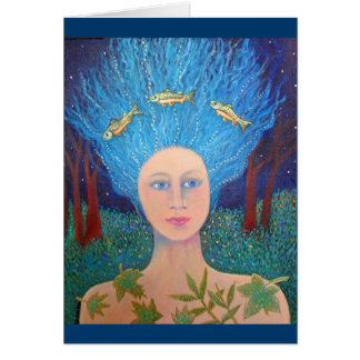 FOREST WOMAN greeting card