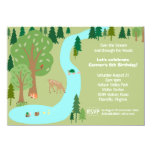 Forest Woodland Animals Nature Birthday Party 11 Cm X 16 Cm Invitation Card