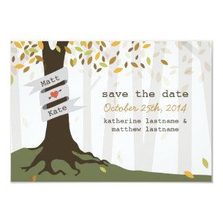 Forest Woodland Wedding Fall Autumn Save The Date 9 Cm X 13 Cm Invitation Card