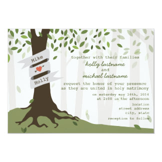 Forest / Woodland Wedding Invitation