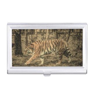 Forest Woodland wildlife Majestic Wild Tiger Business Card Holder