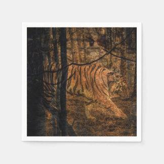 Forest Woodland wildlife Majestic Wild Tiger Disposable Serviettes