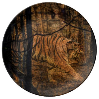 Forest Woodland wildlife Majestic Wild Tiger Plate