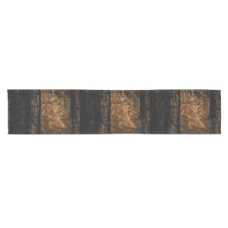 Forest Woodland wildlife Majestic Wild Tiger Short Table Runner