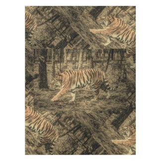 Forest Woodland wildlife Majestic Wild Tiger Tablecloth