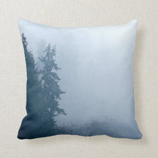 Forest Woods Meadow Ferns Oregon Trail Photography Cushion