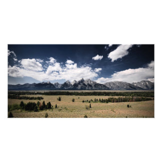Forested Plains Personalised Photo Card
