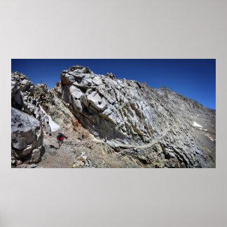 Forester Pass Catwalk - John Muir Trail Poster