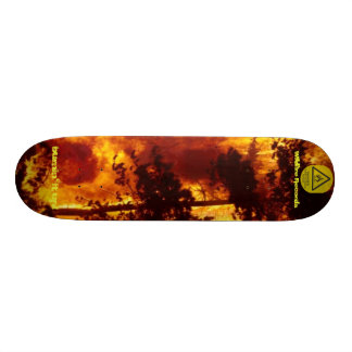 forestfire, highly-flammable-2, Wildfire Record... 21.3 Cm Mini Skateboard Deck