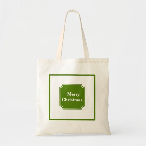 Forestgreen Merry Christmas Holiday Tote Bag