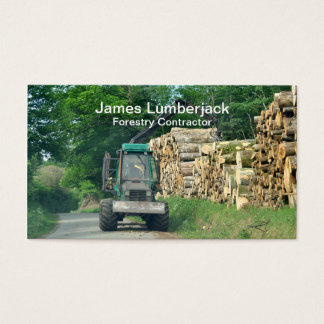 Forestry industries logging tractor business card
