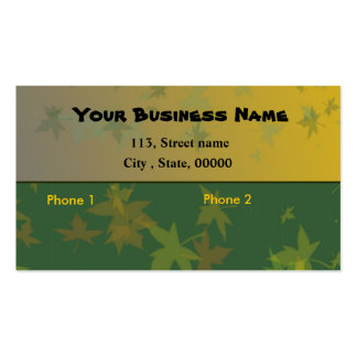 Forestry or agriculture business card