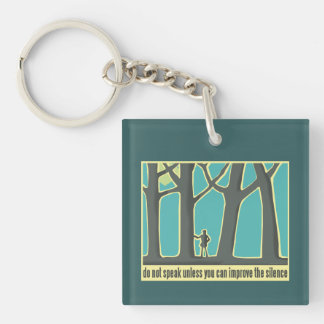 Forests, Trees, Hiking Single-Sided Square Acrylic Key Ring