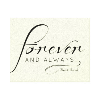 """Forever & Always"" Canvas 