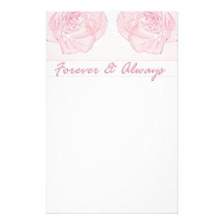 Forever & Always Rose Stationery Design