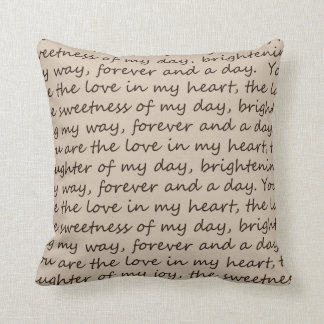 Forever and A Day Poem Cushion