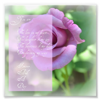 Forever and a Day Poem Photo Print