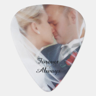Forever and Always Your Wedding Photo Guitar Pick