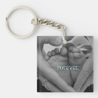 Forever baby feet in our Hearts Key Ring