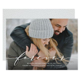 Forever Begins Save the Date Photo Announcement