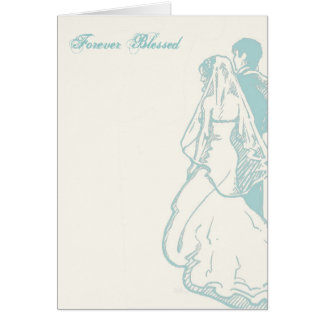 """Forever Blessed"" Wedding Card"