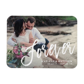 Forever Brushed Save the Date Magnet