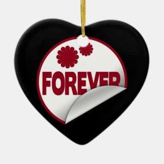 Forever Ceramic Heart Decoration