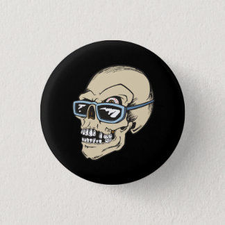 Forever Cool In Life and Death Skull Button