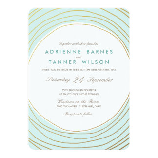Forever | Custom Background Color Wedding Invite
