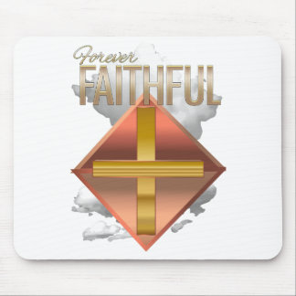 Forever Faithful Metal Design Christian Mouse Pad