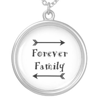Forever Family - Adpotion Design Silver Plated Necklace