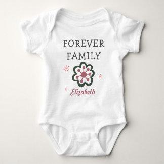 Forever Family Purple Flower Adoption Gift Baby Bodysuit