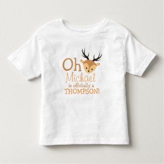 Forever Family Woodland Oh Deer Adoption Gift Toddler T-Shirt