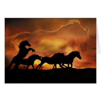 """Forever Free"" Horse Sympathy Card"